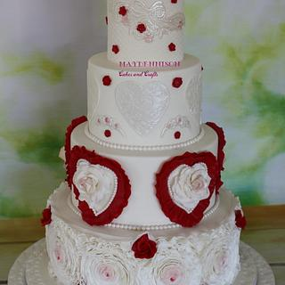 Valentines Wedding Cake