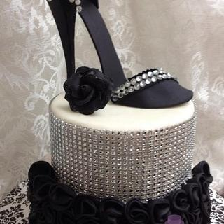 Black stiletto and bling