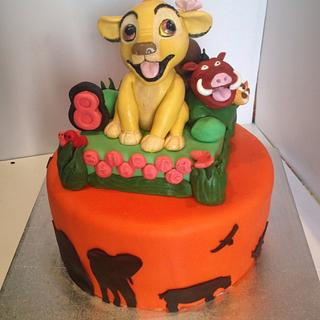 Simba the lion king cake