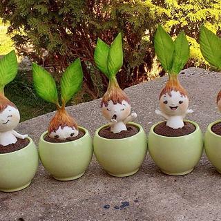 Spring bulbs cupcakes