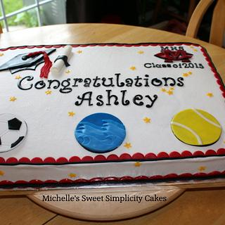 Sports Graduation Cake - Cake by Michelle