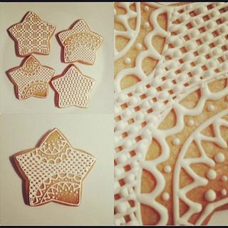 STARS LACE COOKIES...