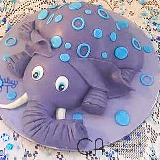 Elephant Baby Shower Cakr