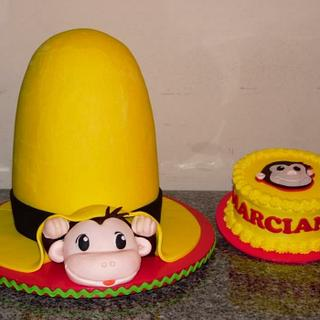 Curious George 1st Birthday Cake & Smash Cake - Cake by Sweets By Monica