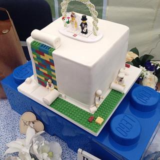Lego wedding. - Cake by George's Bakes