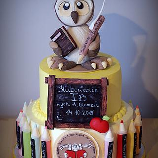Cake for a school event - Cake by TortLove by Aga