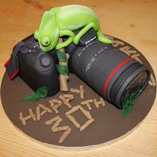 Canon 5D Camera Cake with a 'touch of nature'  - Cake by Cake Creations By Hannah