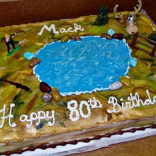 Hunting cake in buttercream icing - Cake by Nancys Fancys Cakes & Catering (Nancy Goolsby)