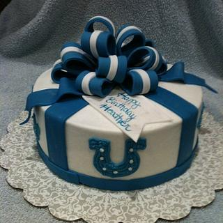 Colts Gift Package - Cake by Dawn Henderson