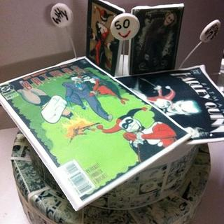 comic strip covered cake the joker