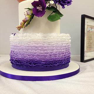Royal Purple -Bridal shower Cake