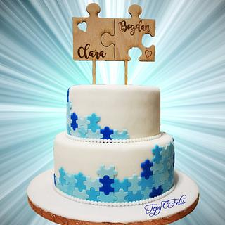 Wedding cake- Love and perfect match