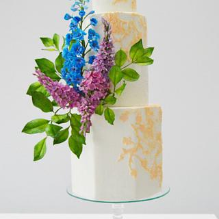 Vintage Garden  lace wedding cake