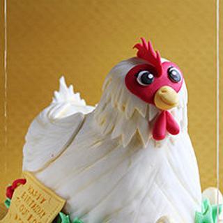 Chicken Birthday Cake