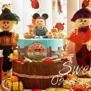 Fall Mickey Theme - Cake by Sweet Obsessions Cake Co
