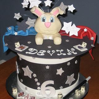 Magic Rabbit Hat Birthday Party Cake - Cake by Kristen