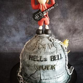 AC-DC themed cake