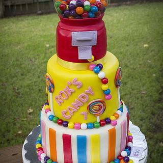 Bubblegum Machine Cake - Cake by Angelica Galindo
