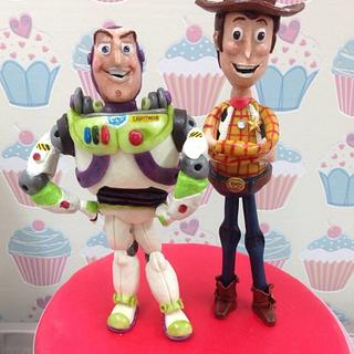 Buzz Lightyear and Woody Cake Topper