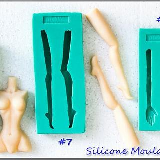 Female Silicone Moulds / Torse , Legs , Hands