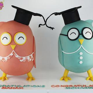 Graduate Owl Cakes