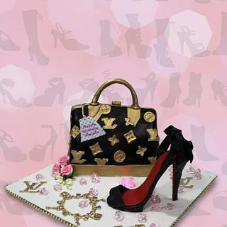 Black & Gold Handbag & Shoe