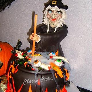 A Witch And Her Brew - Cake by Classy Cakes By Diane