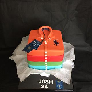 Ralph Lauren stacked t-shirt cake.