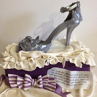 Silver Butterfly Shoe