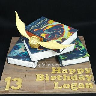 Harry Potter Books Cake - Cake by Cakes by Vivienne