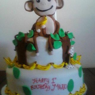 monkeys 1st birthday - Cake by CC's Creative Cakes and more...