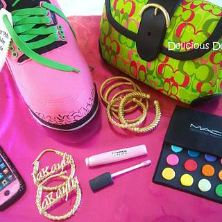 Sneaker and Purse Cake