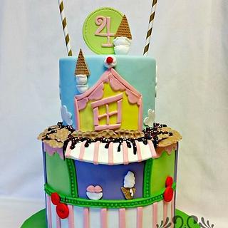 Ice Cream Shop Birthday Cake