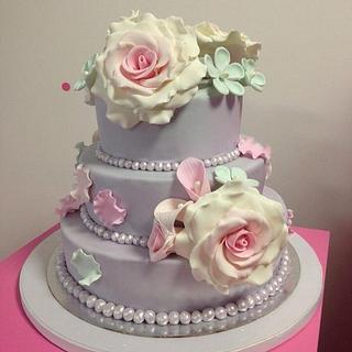 My first tiered cake
