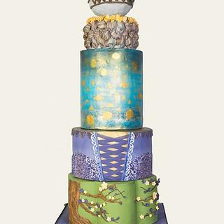 Tangled theme wedding cake