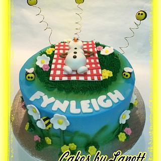 Frozen Olaf Cake - Cake by lanett