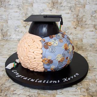 Brain Graduation Cake - Cake by RedHeadCakes