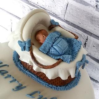 Baby Boys Christening Cake - Cake by Storyteller Cakes