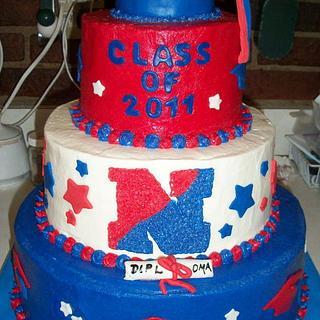 Graduation Cap Tiered Cake