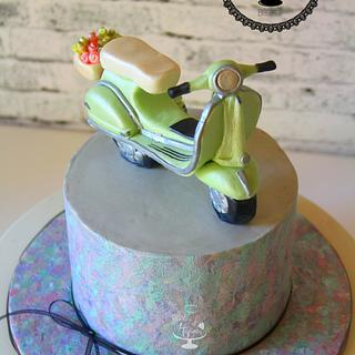 Vespa for Sugar Magazine - Cake by Slice of Heaven By Geethu
