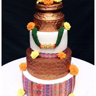 Nepali theme wedding cake  - Cake by Homebaker
