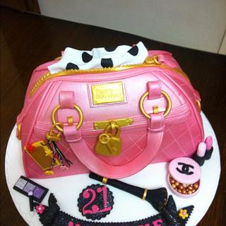 Pink pauls boutique handbag with cosmetics - Cake by Berns cakes