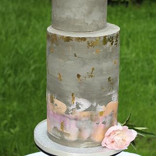 Concreate wedding cake