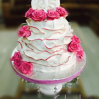 Anniversary cake  - Cake by thecakedecor