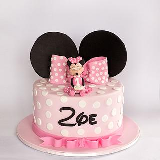 Zoe's Minnie Mouse Cake - Cake by Miriam