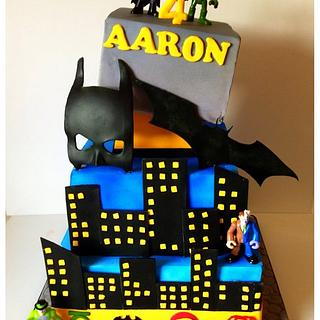 Batman cake for my sons 4th birthday!