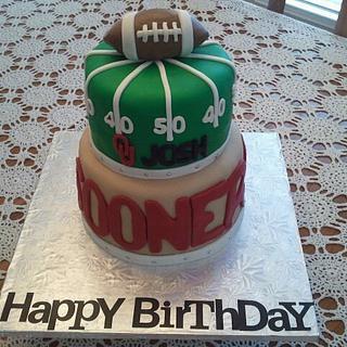 OU Sooners Birthday Cake - Cake by Tammy