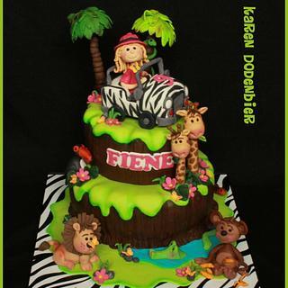 Safari cake voor a girl!