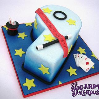 Magic Themed Number 9 Cake