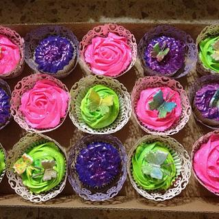 Butterfly Cupcakes for a Fancy Nancy Birthday